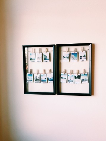 Keeping with the Modern, Minimalist Theme with these Framed Polaroids!